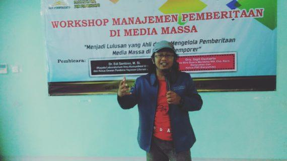 Cetak Magister Profesional, Pascasarsajana IAIN Puwokerto Adakan Workshop Manajemen Media Massa