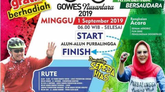 Purbalingga Gelar Gowes Nusantara 2019